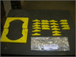 Urethane bead blast mask set. Designed and cast by United to customers requirements