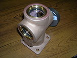Completed valve, cast brass, machined and assembled by United
